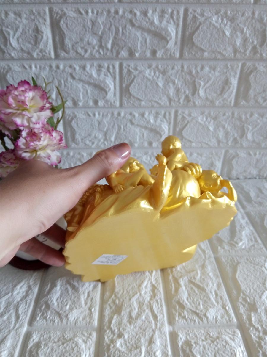 Tượng đá phật di lặc ngũ phúc vàng - DLV20