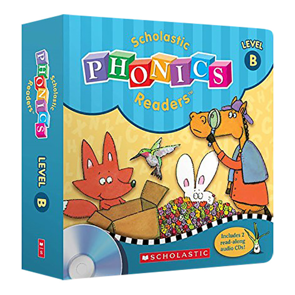 Scholastic Phonics Readers B (With 12 Books + 2 CDs)