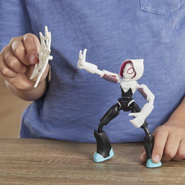 Đồ chơi mô hình SPIDERMAN Siêu anh hùng Ghost Spider phiên bản Bend and Flex E7688/E7335