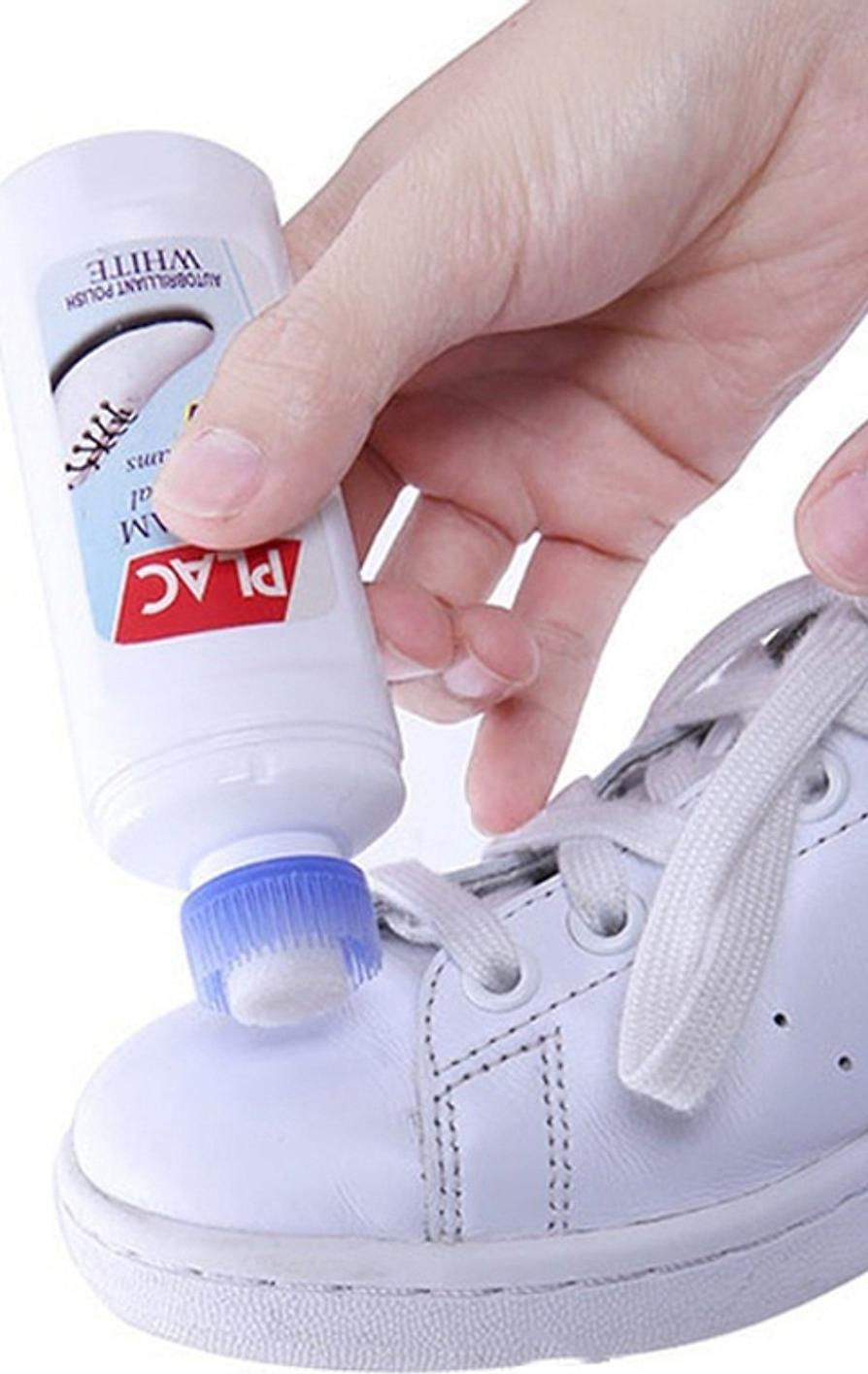 Chai Tẩy Trắng Giày Dép Và Túi Xách An Toàn - Nhỏ Gọn - Tiện Dụng Cho Người Sử Dụng, Chai Tẩy Trắng Plac Thông Minh Với Đầu Cọ Siêu Bền Chắc