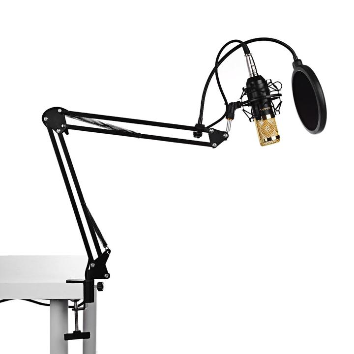 Chân kẹp bàn micro thu âm, livestream NB-25