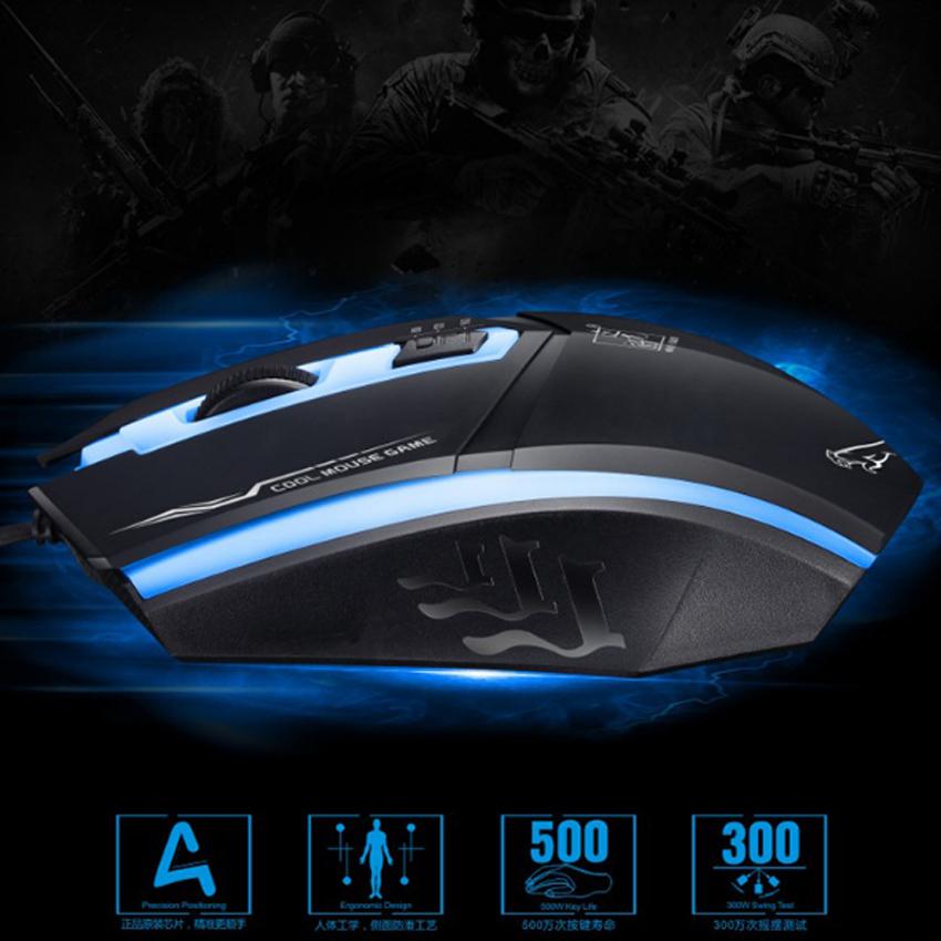 Chuột chơi Game có dây New4all Cool Mouse (Màu Ngẫu Nhiên) - Hàng Chính Hãng
