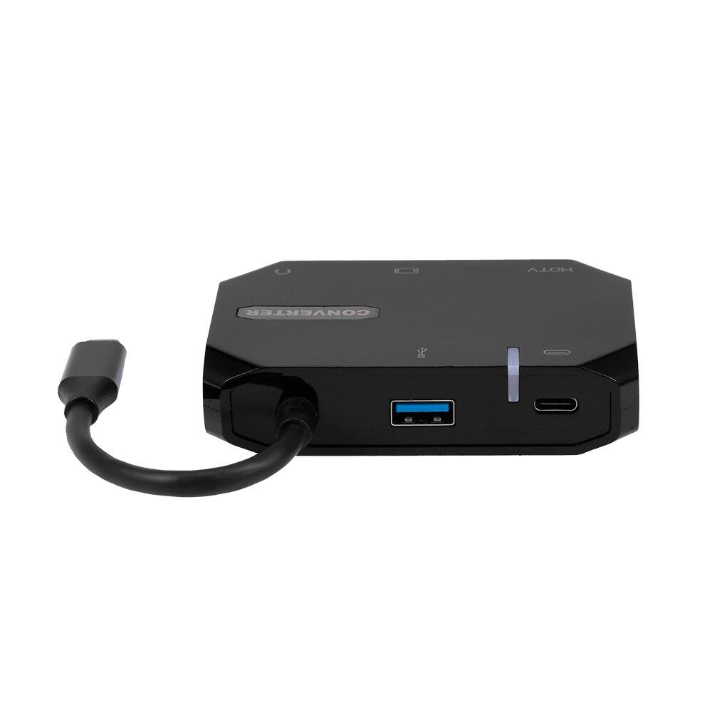 Hub USB Type-C ra 5 cổng HDMI/VGA/ AV/ USB/ PD cho Macbook, Smartphone - UTH51A30