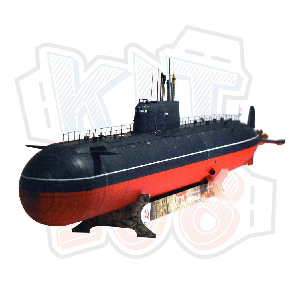 Mô hình giấy tàu ngầm quân sự K-278 Komsomolec (GPM 396)