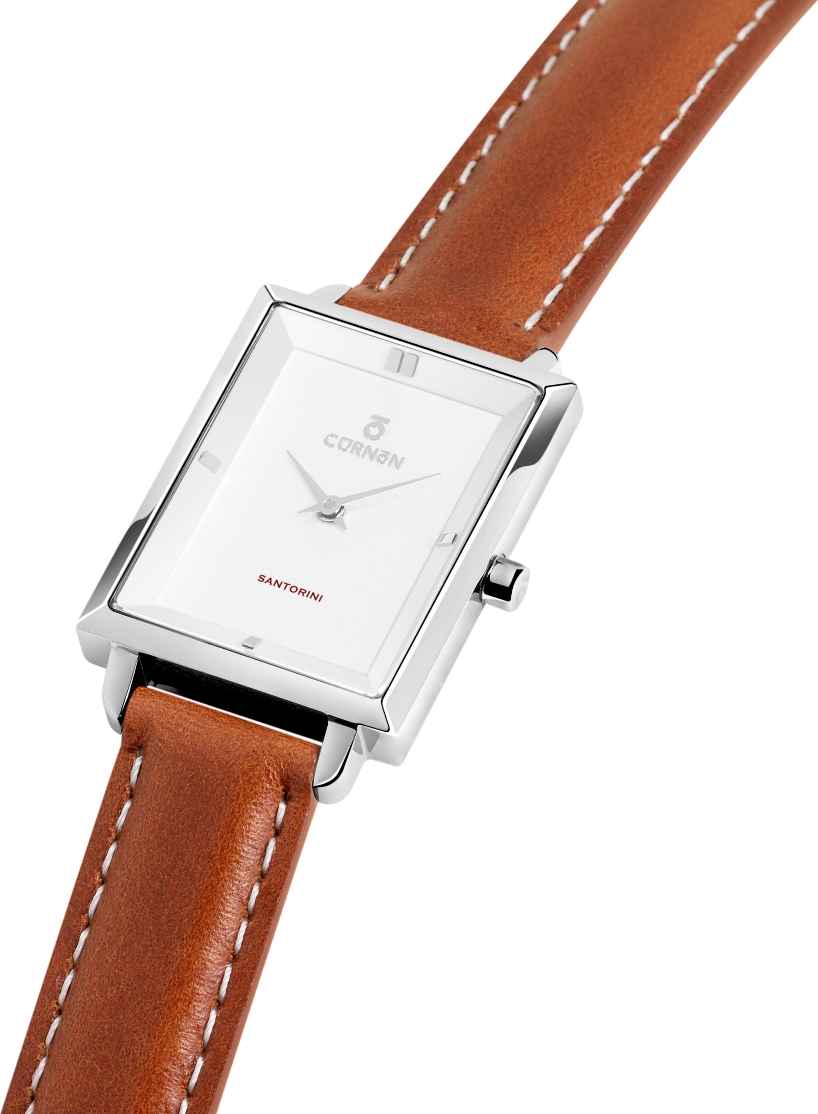Đồng hồ nữ Dây Da Curnon Santorini Athena (30x24mm) Mặt Chữ Nhật