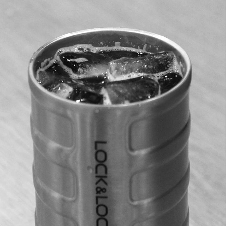 Ly Giữ Nhiệt Thép Không Gỉ Bumper Tumbler Lock&Lock LHC4139SLV (550ml) - Bạc