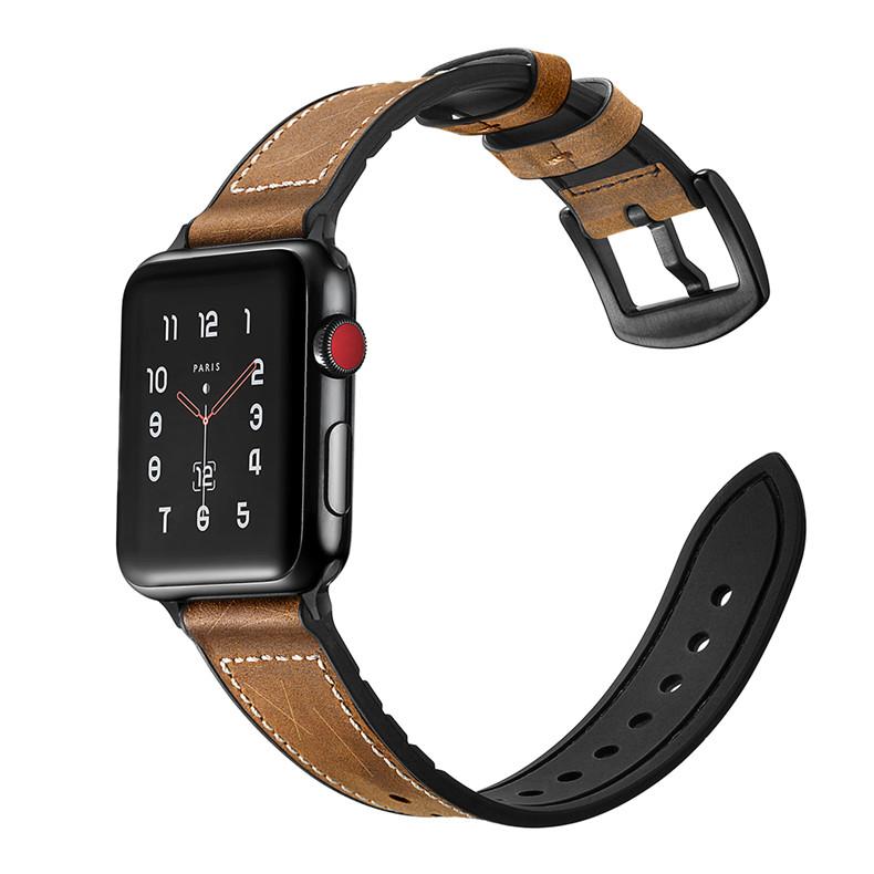 Dây Da dành cho Apple Watch Hybrid Chống Nước Size 42/44mm