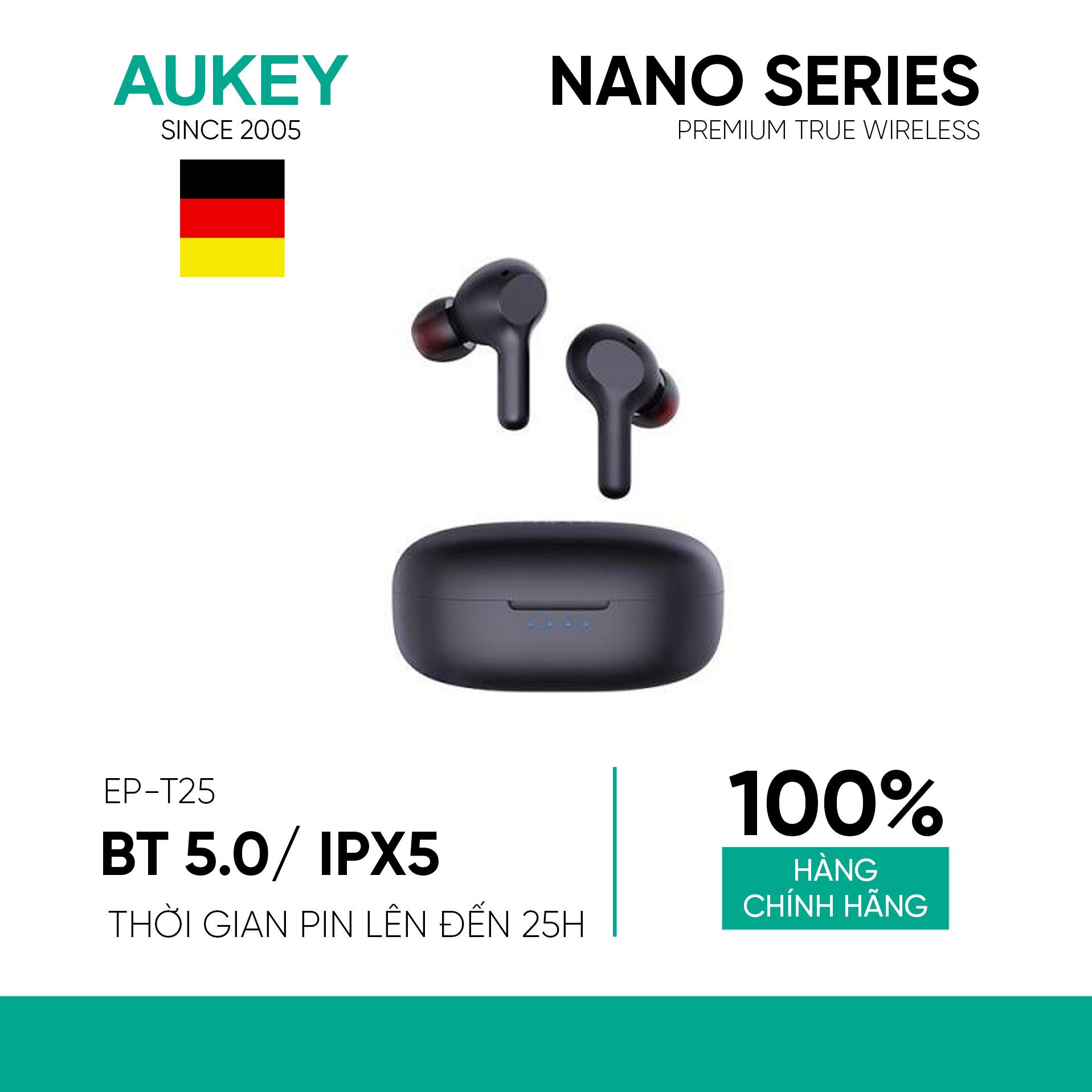 Hình ảnh Tai Nghe True Wireless AUKEY EP-T25 Điều Khiển Cảm Ứng, Bluetooth 5.0, Chống Nước IPX5, Pin Lên Đến 25h - Hàng Chính Hãng