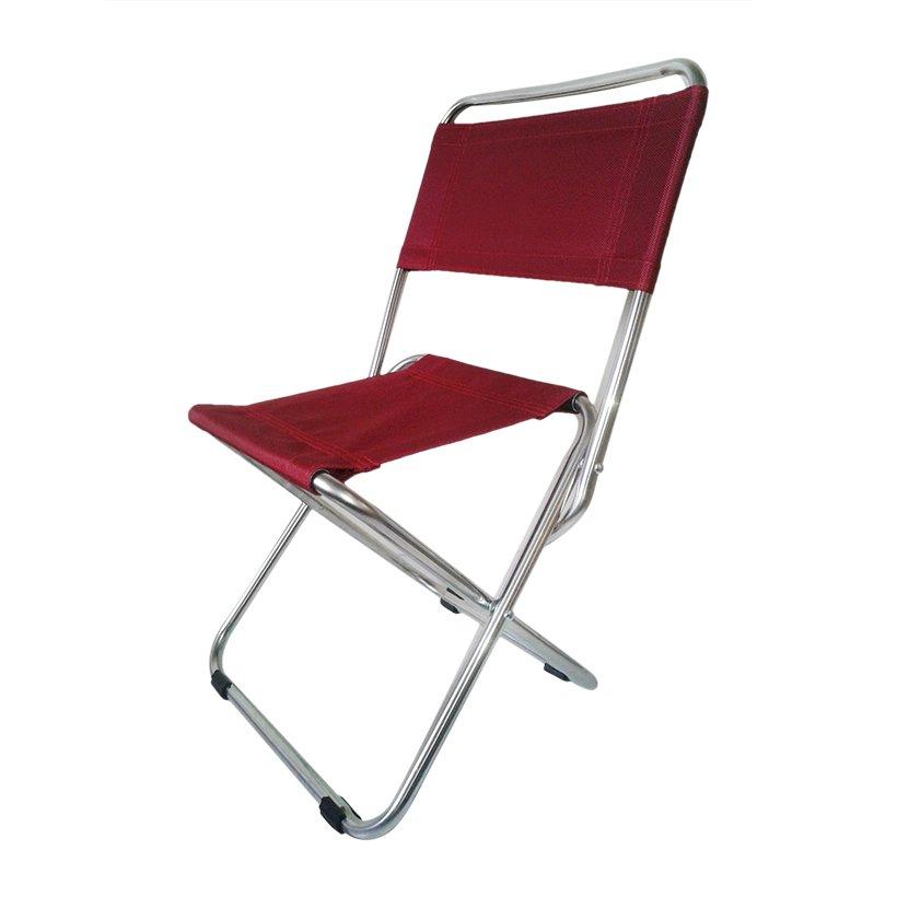 Ghế xếp inox loại nhỏ Thanh Long GXI-L03 35 x 30 x 65 cm (Đỏ Đô)