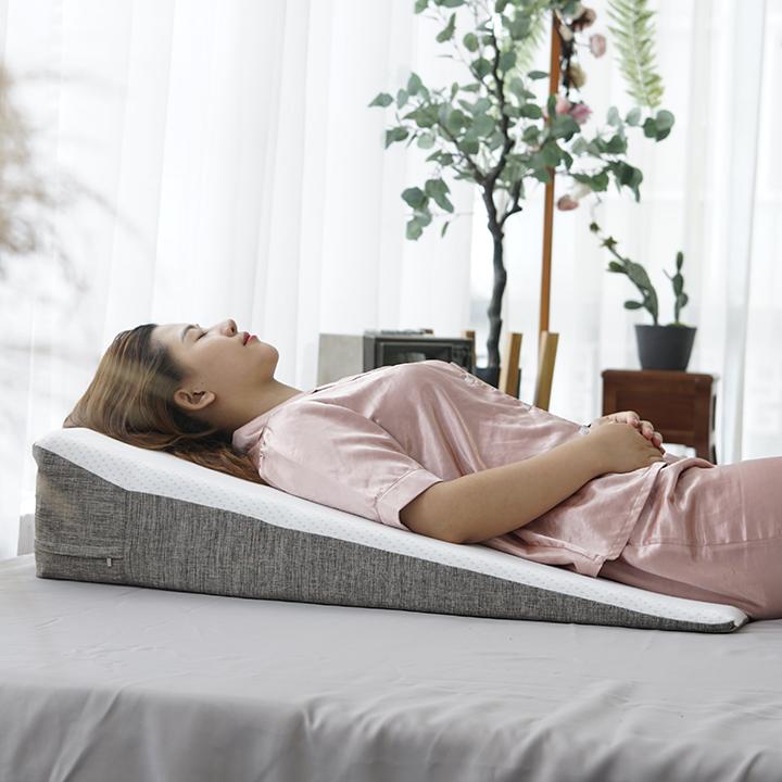 Gối Nêm Chống Trào Ngược Dạ Dày Thực Quản Người Lớn Hi-Sleep kích thước 90x60x18cm - Dài hơn - Chống trượt tuyệt đối - Nghiêng trái thoải mái - Được bác sĩ khuyên dùng