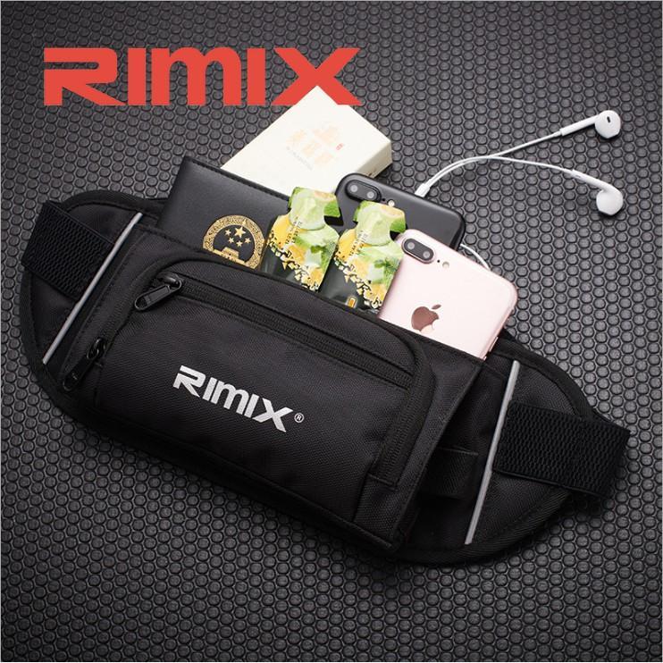 Túi đeo hông đeo bụng thể thao phản quang, chống nước, dây thoáng khí Rimix RM5507