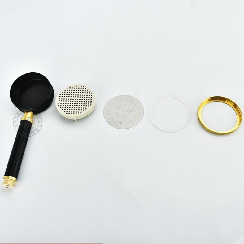 Bộ vòi sen tăng áp 300% bằng hợp kim nhôm chống oxi hóa , chống rỉ sét màu vàng đen sang trọng 206779