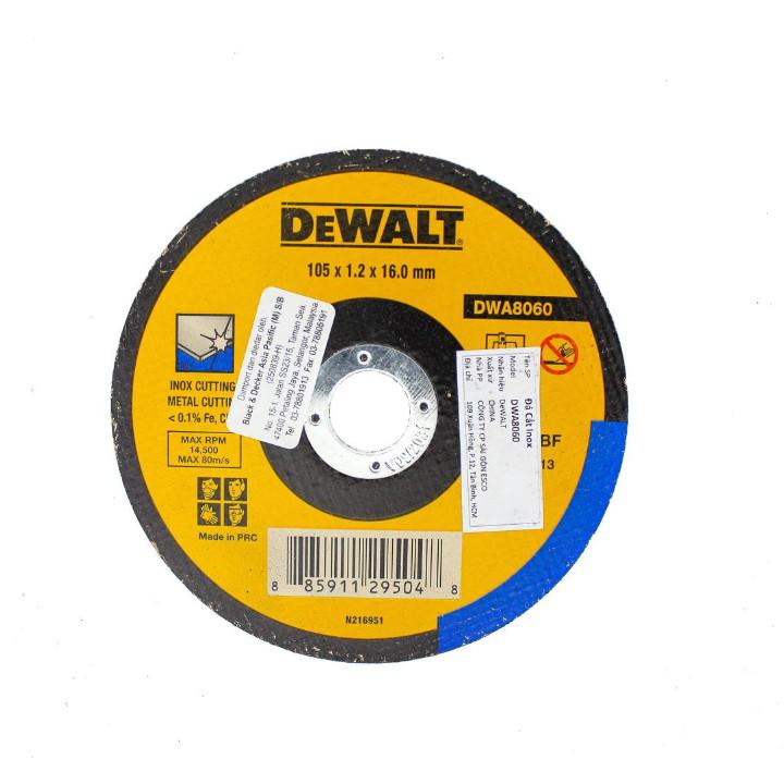 Combo Máy mài cầm tay 800W Black & Decker DWA8060-B1 G720B-B1 và Đá cắt inox DeWALT DWA8060-B1 100 x 1.2 x 16mm T1