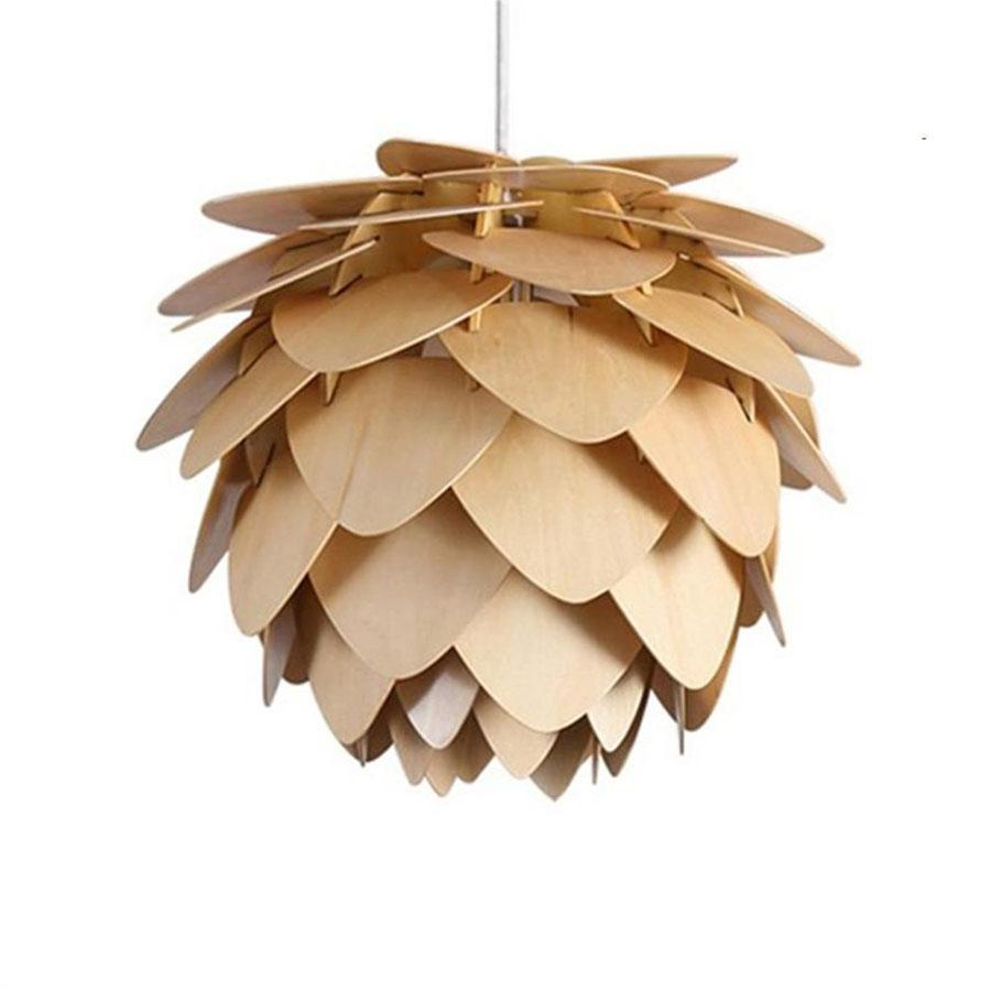 Đèn gỗ thả trần D381