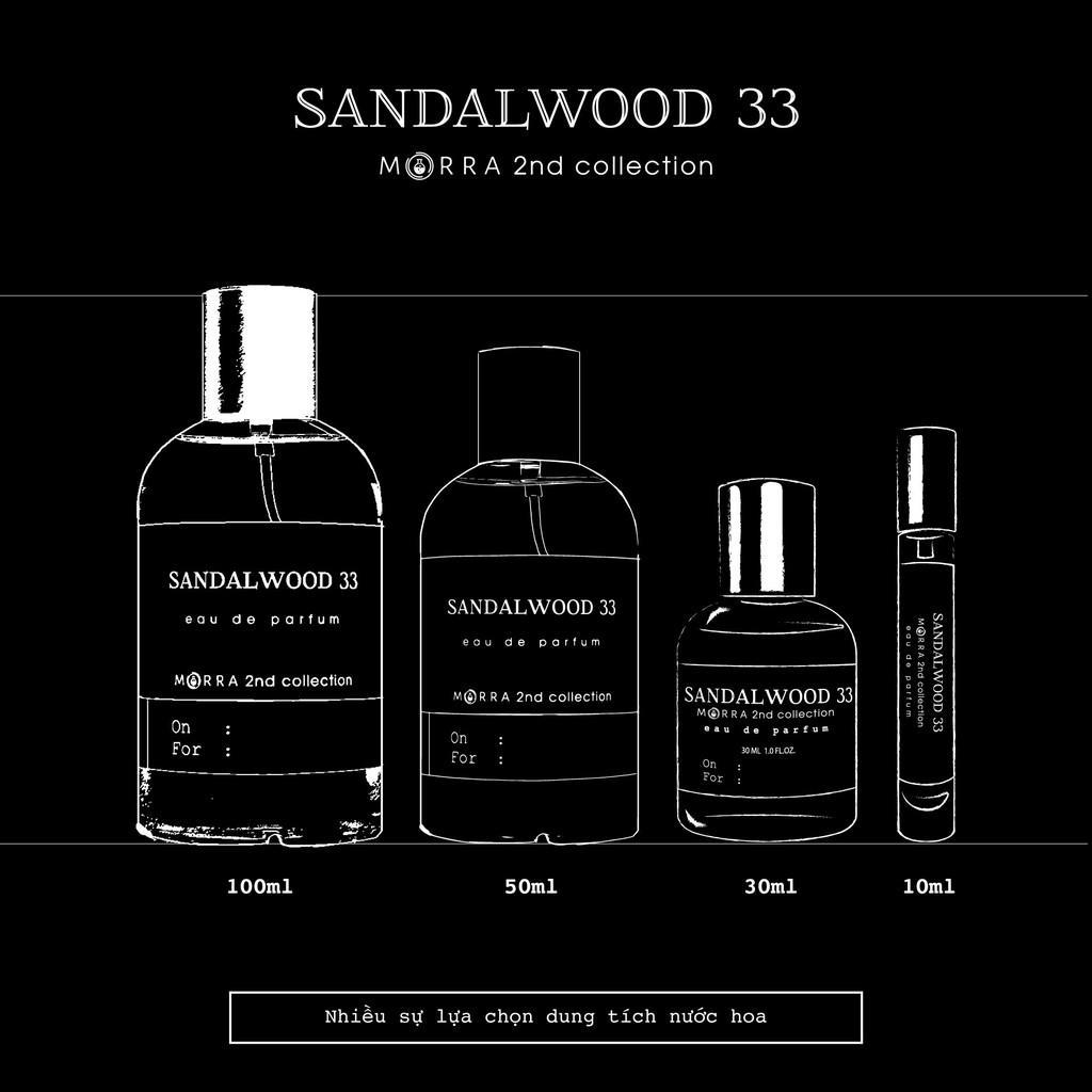Nước Hoa Morra Sandalwood 33 - 10ml