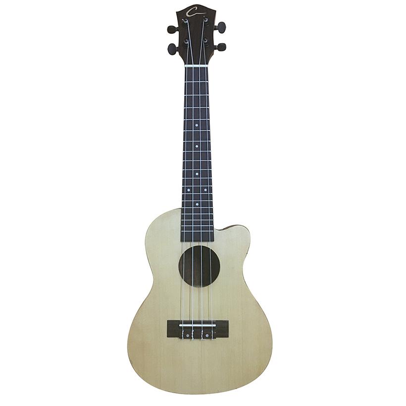 Đàn Ukulele Concert size 23 - Mẫu Guitar Bass Shape Màu sáng 2