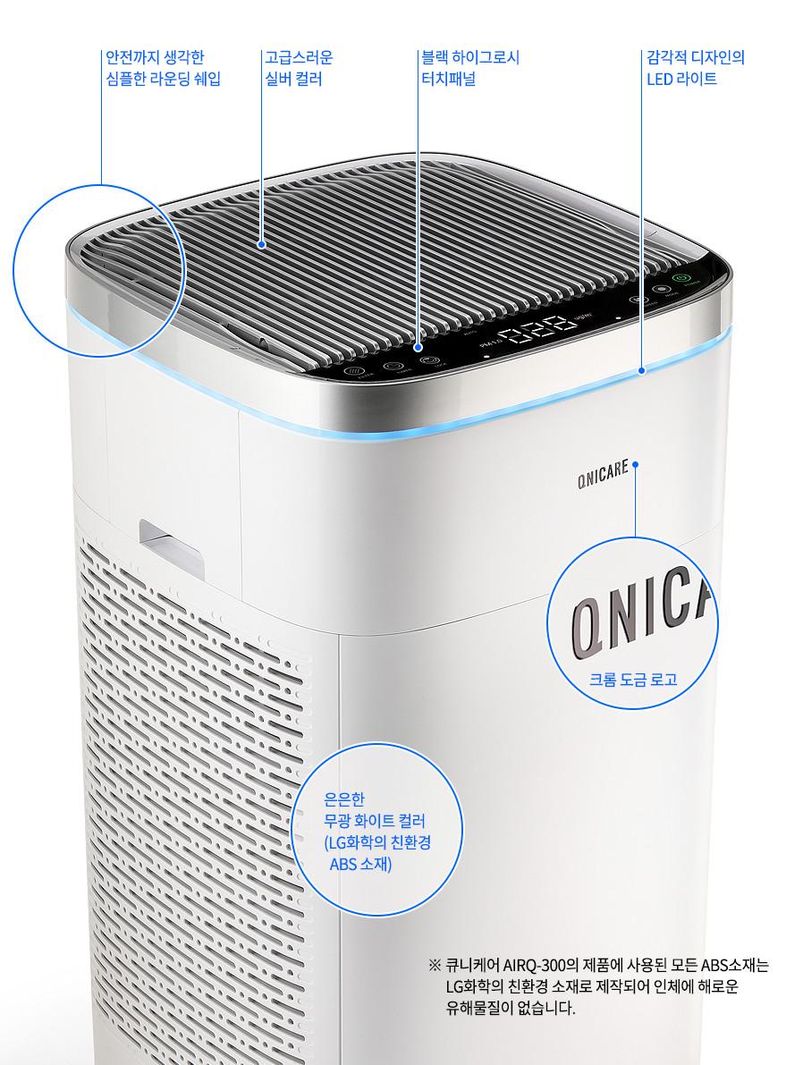 Máy lọc không khí QNICARE cảm biến PM1.0, màng lọc HEPA 13 cho diện tích lên đến 99m2 - Hàng nhập khẩu