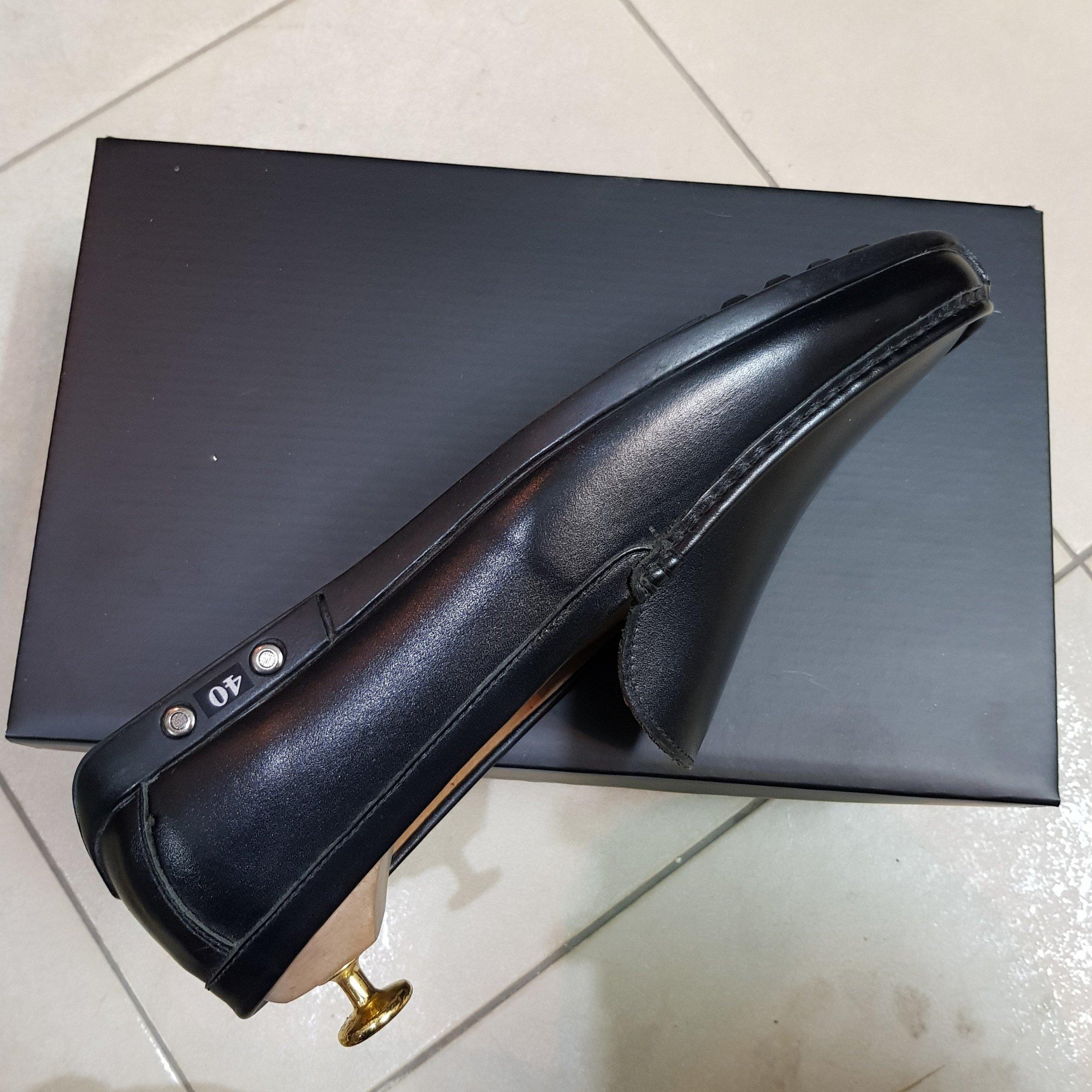 Giày Lười Nam Cao Cấp. Đế Full Đen, CT001