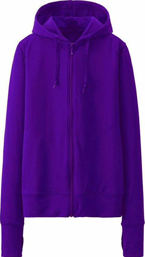 Áo khoác cotton chống nắng tím cho nữ