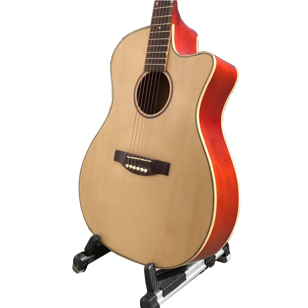Guitar acoustic có ty chống cong cho người mới tập - Mặt gỗ thông nguyên tấm GTSV