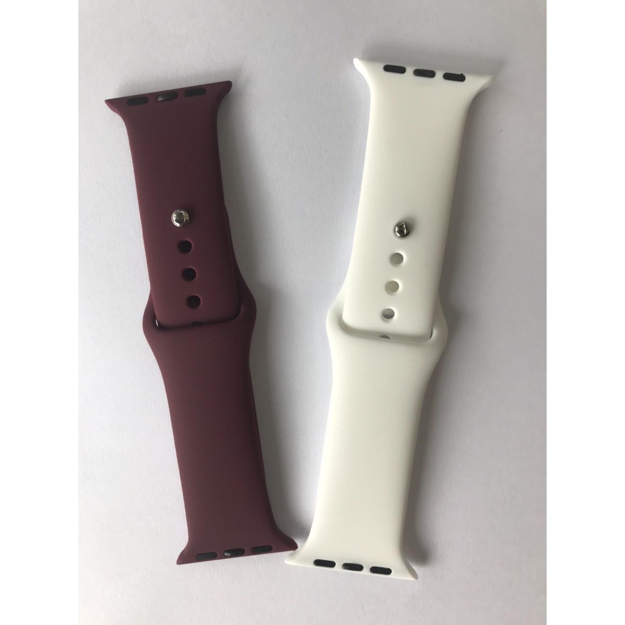 Bô Đôi Dây Đeo Dành cho Đồng Hồ  Apple watch Silicon Thời Trang Cao Cấp Size 38-40mm