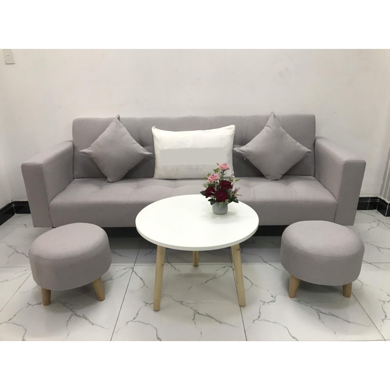 Bộ ghế sofa giường 2mx90 sofa bed tay vịn phòng khách salon linco13