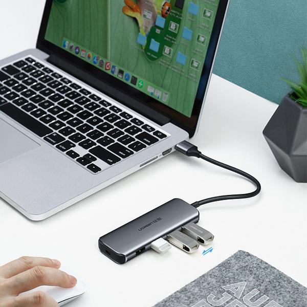 Bộ chia USB 3.0 ra 4 cổng Ugreen UG-50768 - Hàng Chính Hãng
