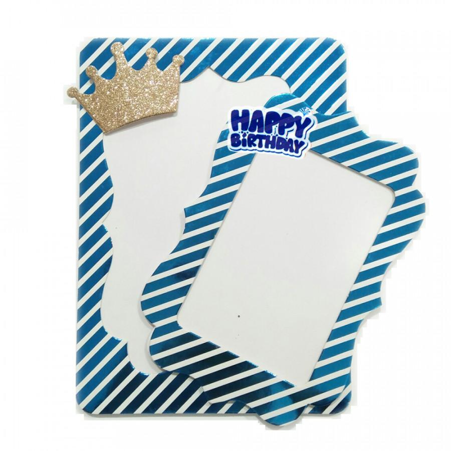 2 Khung hình giấy ép kim để bàn trang trí tiệc sinh nhật