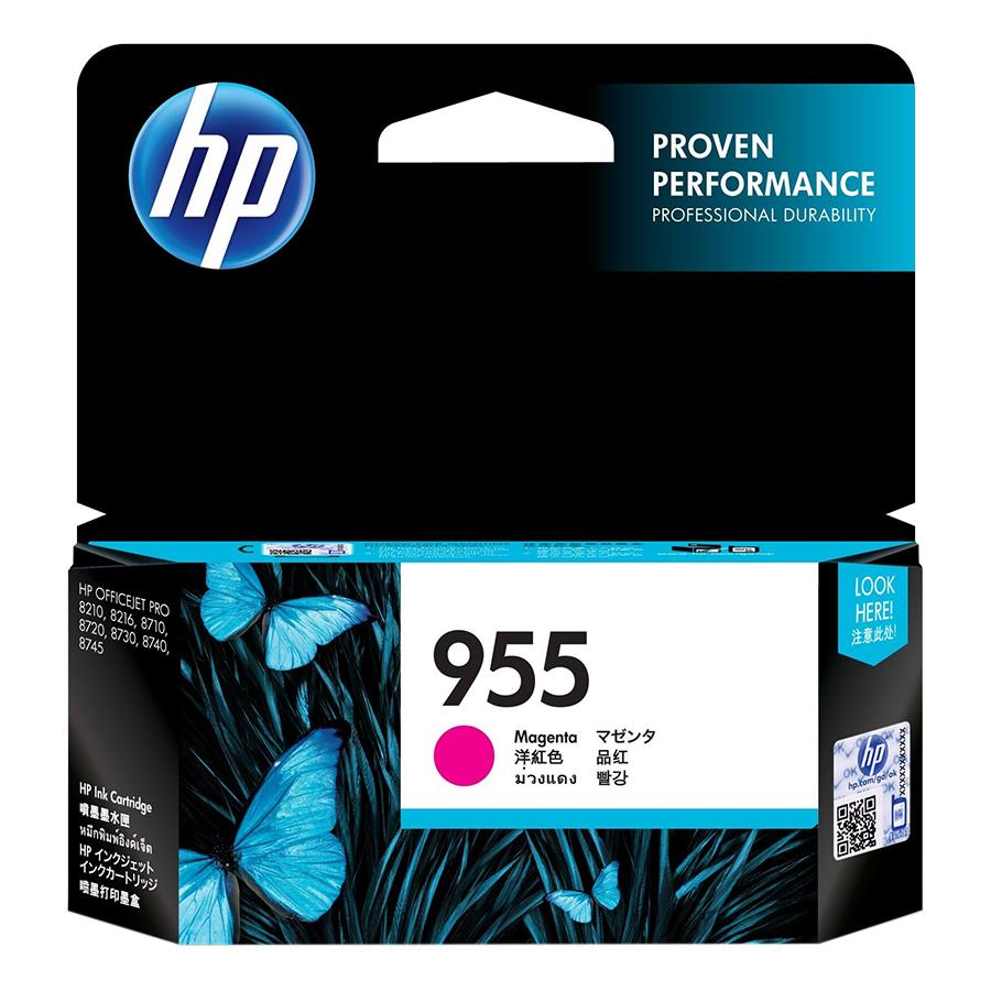 Mực in Phun HP 955 Magenta Original Ink Cartridge Đỏ Tươi (Máy in HP OfficeJet Pro 8210/8216/HP OfficeJet Pro 8710 All-in-One/8720/8730//8740/HP OJP 8745 All-in-One/HP OfficeJet Pro 7720 Wide Format/7730/L0S54AA) - Hàng Chính Hãng