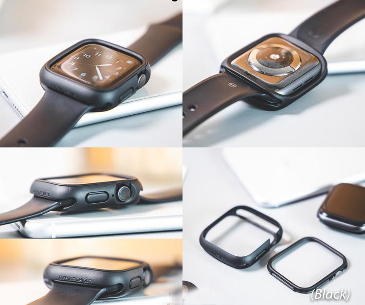 Ốp Apple Watch Rhinoshield Cash Guard NX USA_Đen_size 42mm_ Hàng nhập khẩu