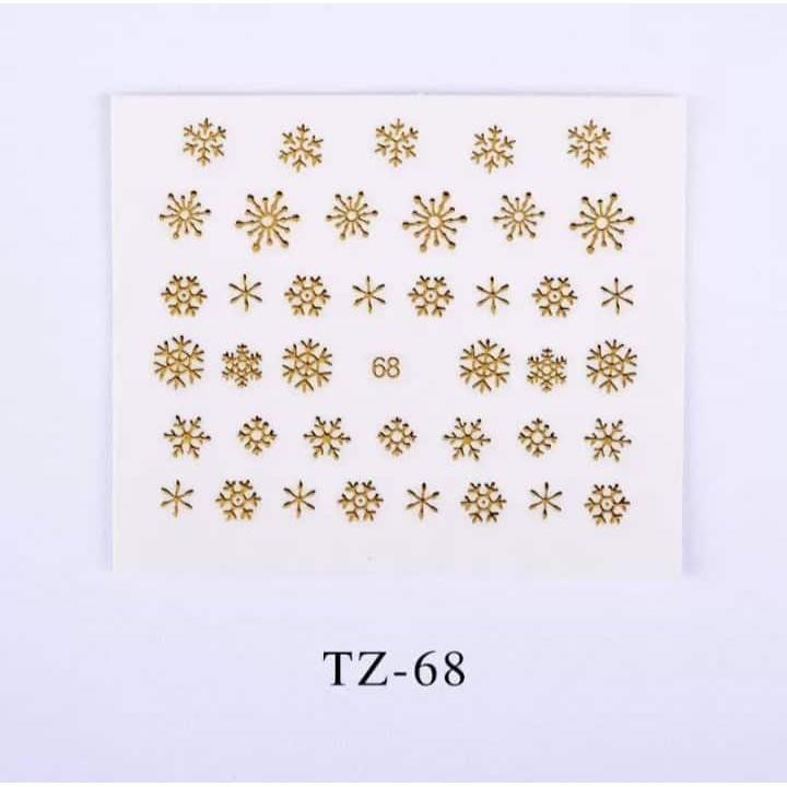 Sticker Gold - Hình dán 3D vàng tráng gương trang trí móng BYH023