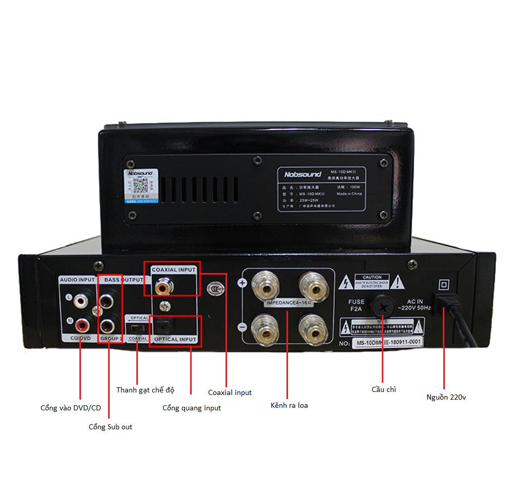 Amplifier Đèn Mini Bluetooth MS-10DMKIII Cao Cấp AZONE - Hàng Nhập Khẩu
