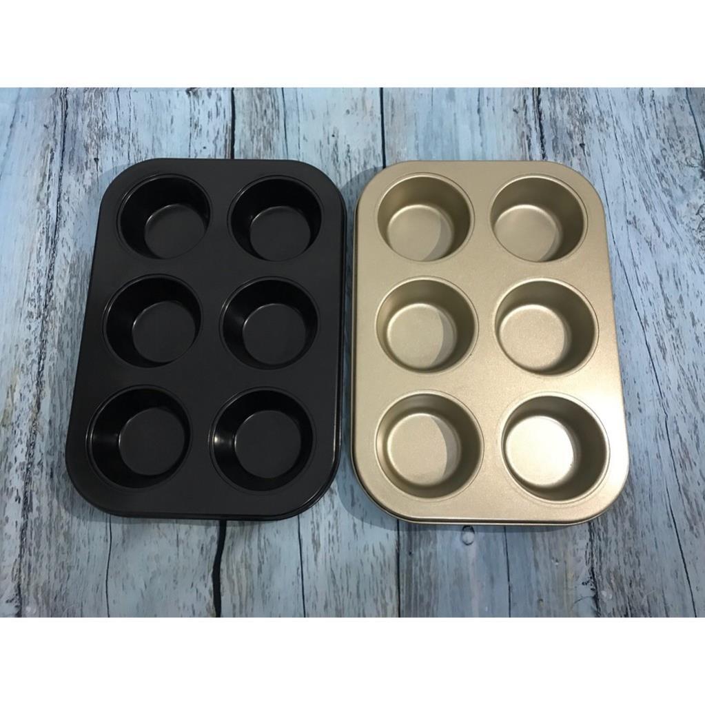 Khuôn cupcake 6 ô chống dính to làm bánh