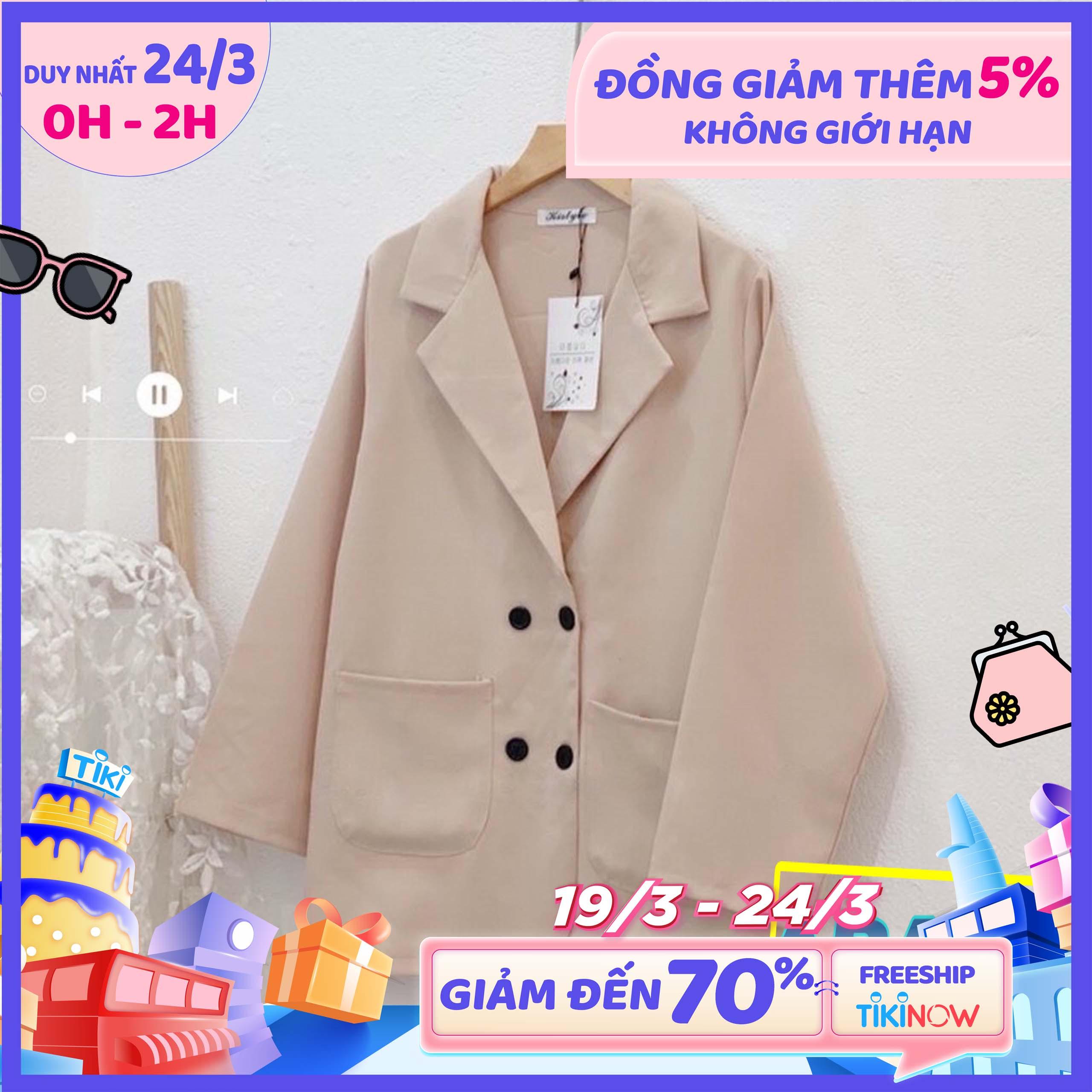 Áo Khoác Vest Blazer Nữ Tay Dài Màu Trơn Style Ulzzang Hàn Quốc (Freesize) - FM2TS012