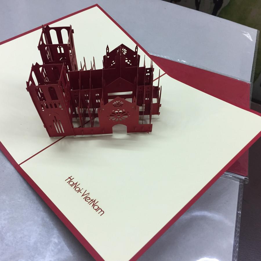 Nhà Thờ Lớn Hà Nội - Thiệp 3D (size 12x18)