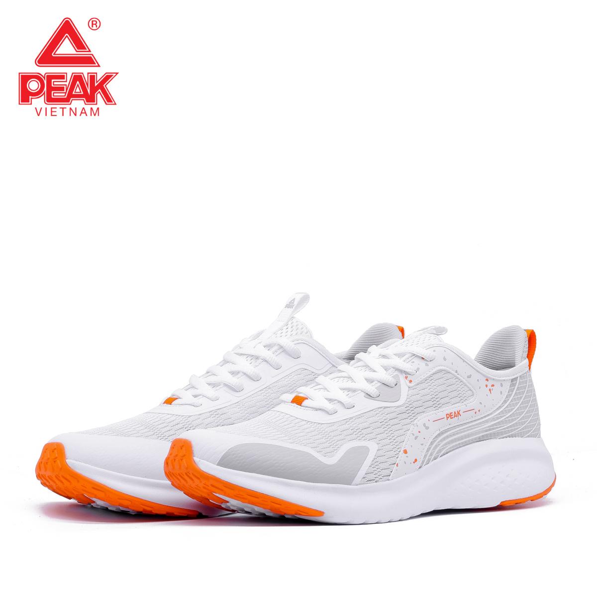 Giày Chạy Bộ Nữ PEAK EW12288H Trắng Cam