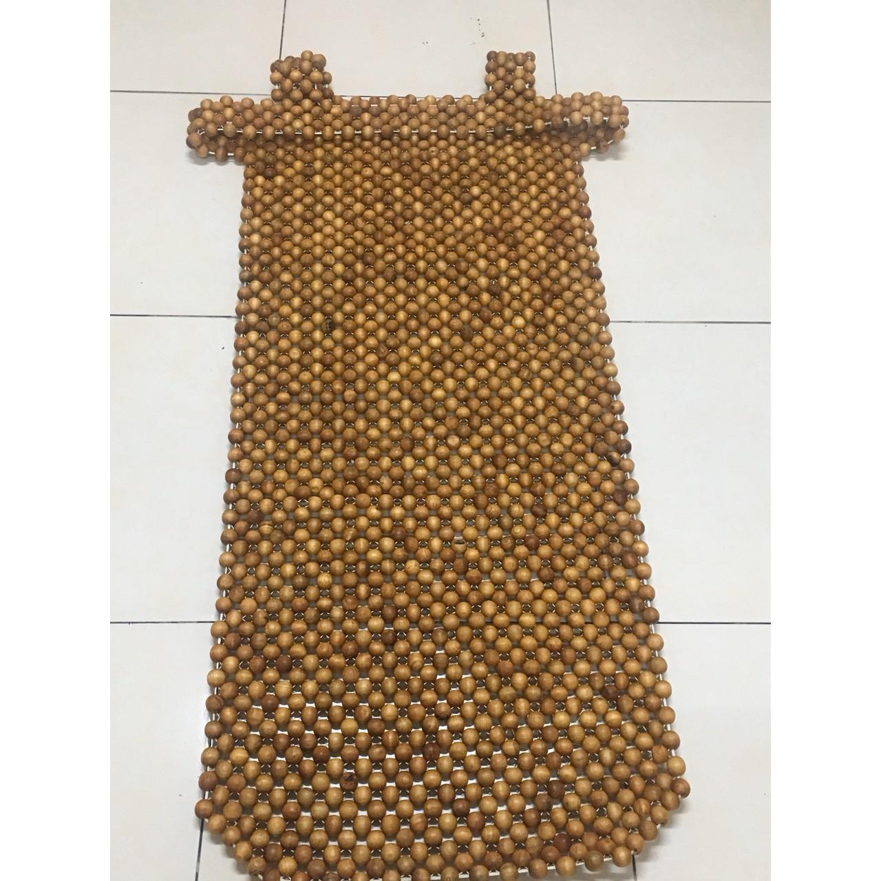 Lót ghế ô tô hạt gỗ Pơ Mu hạt 1,8cm - Loại 1