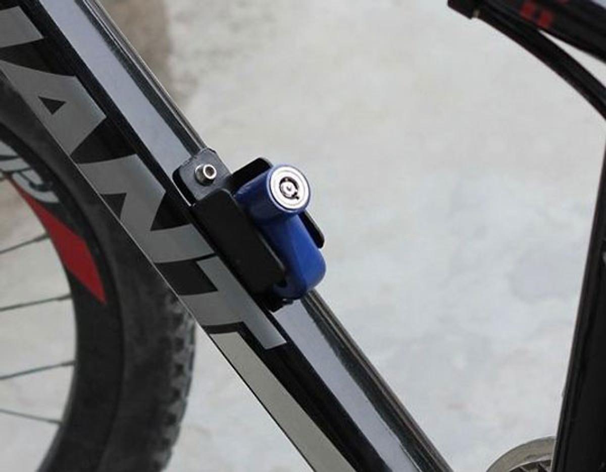 Ổ khóa phanh đĩa chống trộm cho xe máy, xe đạp thể thao (Giao màu ngẫu nhiên)