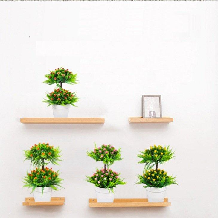 Chậu hoa nhựa 2 tầng trang trí bàn đẹp sang trọng