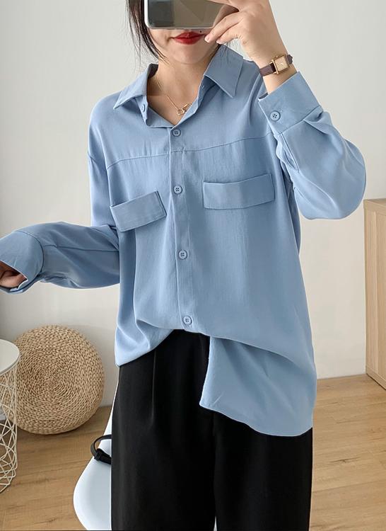 Sơ mi nữ form rộng tay dài ArcticHunter, phong cách trẻ, thương hiệu chính hãng