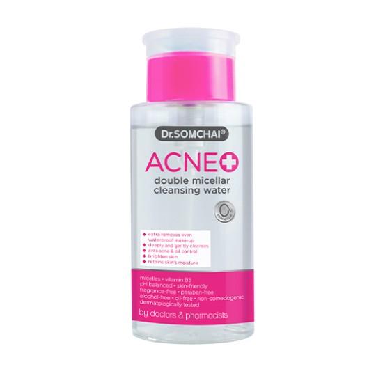 Nước tẩy trang cho da dầu và làn da nhạy cảm, giúp làm sạch và dưỡng ẩm cho da DR.SOMCHAI ACNE DOUBLE MICELLAR CLEANSING WATER 220ml