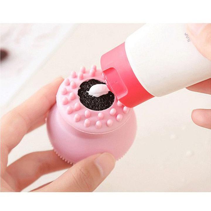 Cọ rửa mặt và Massage Beauty Silicon - Giao màu ngẫu nhiên