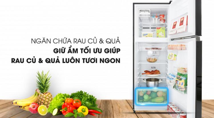 Bảo quản rau củ quả tốt hơn với ngăn chứa lớn hơn - Tủ lạnh Toshiba Inverter 233 lít GR-A28VM(UKG)