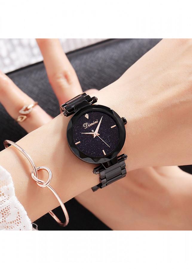 Đồng hồ nữ cao cấp Dimini D5280 dây thép mặt đá Sapphire fullbox chống nước chống xước sành điệu