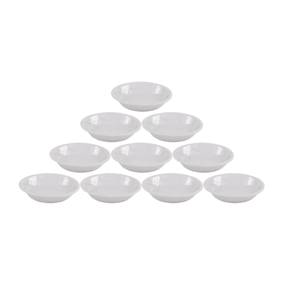Bộ 10 Dĩa (Đĩa) chấm oval Nhựa Xanh Family AD02 WA3