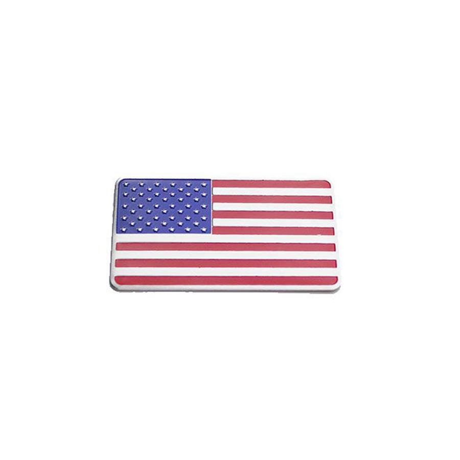 Tem Cờ Mỹ hình chữ nhật trang trí ô tô