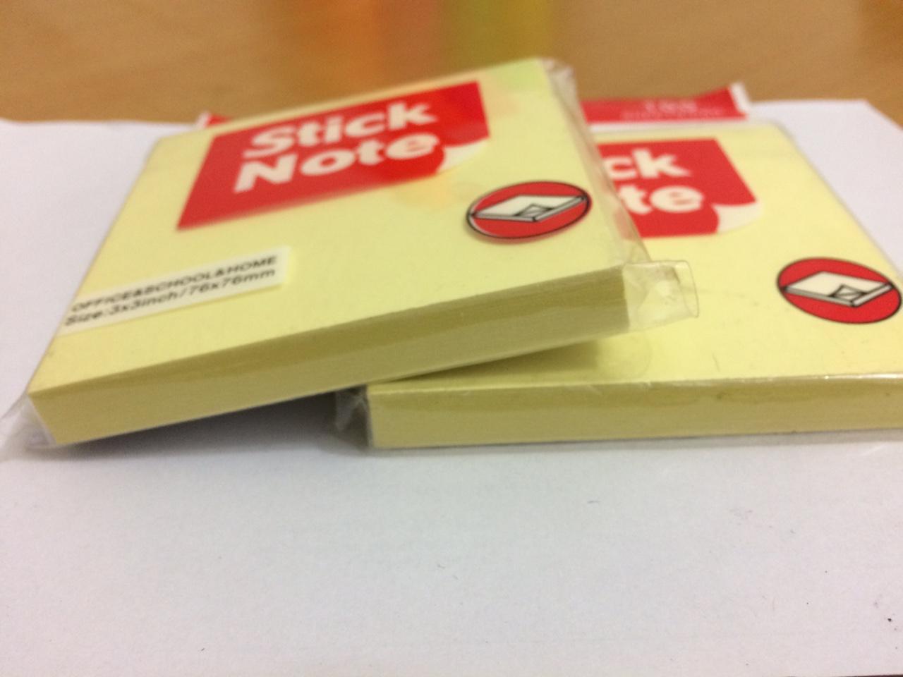Combo 5 Tập Giấy Note Vàng cỡ 3x3