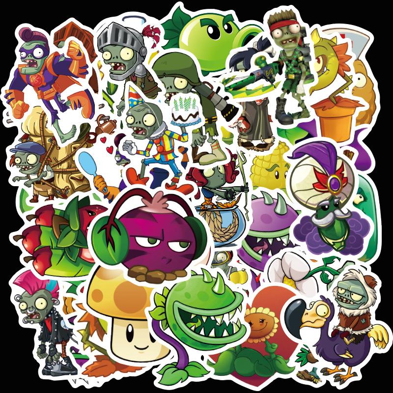 Sticker 50 miếng hình dán Plant VS Zombies