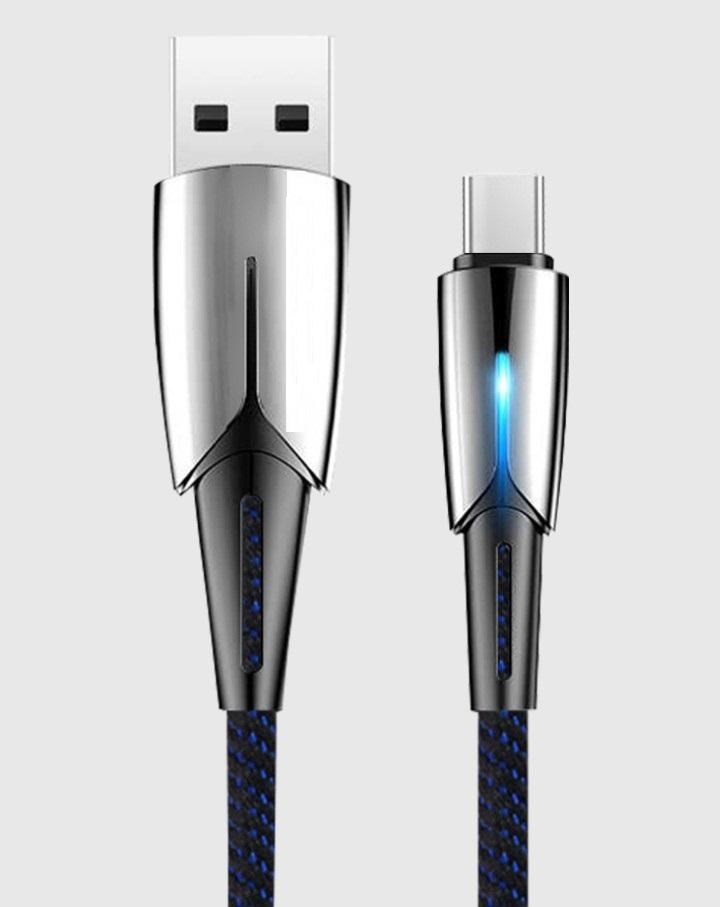 Cáp sạc Type C OP4 dây dù tự ngắt cho Samsung S8/S9/Note8/Note9/ Xiaomi/ Huawei/ Oppo