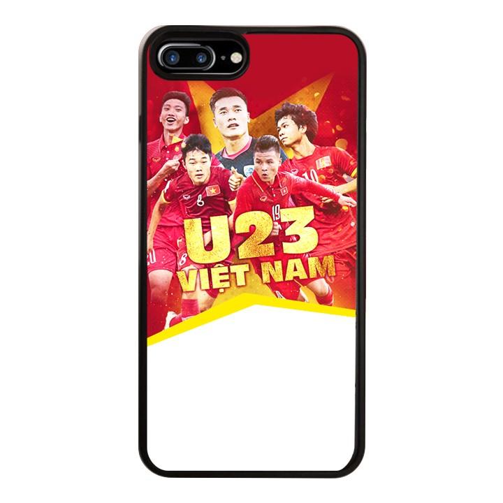 Ốp Lưng Kính Cường Lực Dành Cho Điện Thoại iPhone 7 Plus  8 Plus U23 Việt Nam